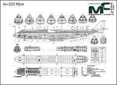 An-225 Mriya - drawing
