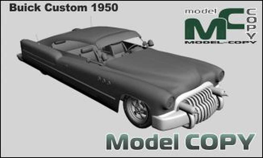 Buick Custom 1950 - 3D Model