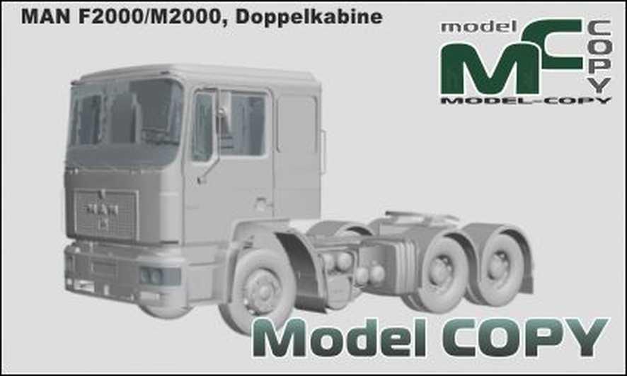 MAN F2000/M2000, Doppelkabine - 3D Model