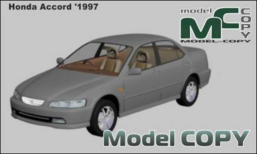 Honda Accord '1997 - 3D Model