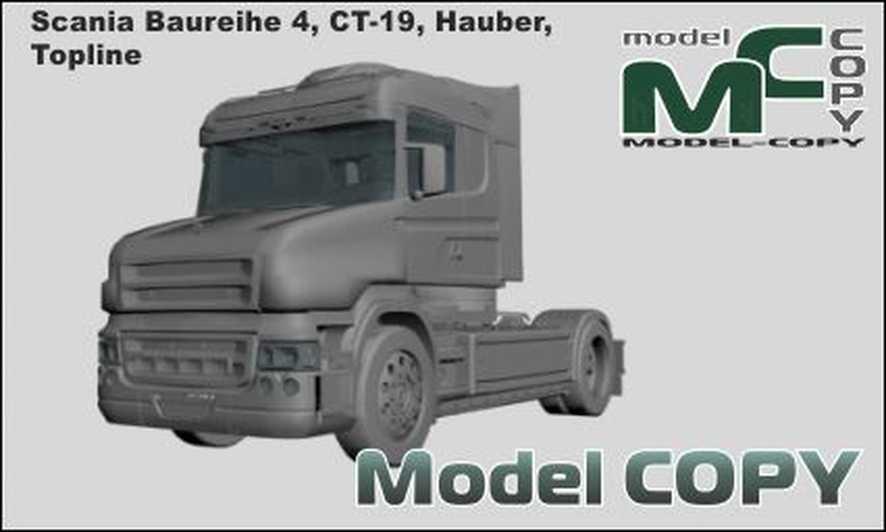 Scania Baureihe 4, CT-19, Hauber, Topline - 3D Model