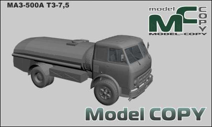 MAZ-500A TZ-7.5 - 3D Model