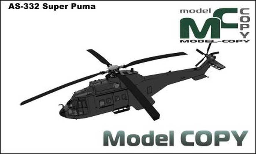 AS-332 Super Puma - 3D Model