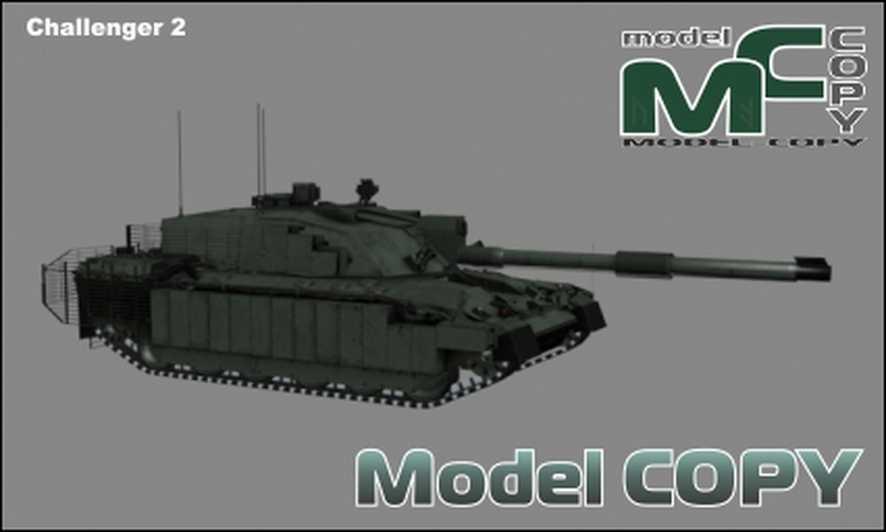 Challenger 2 - 3D Model