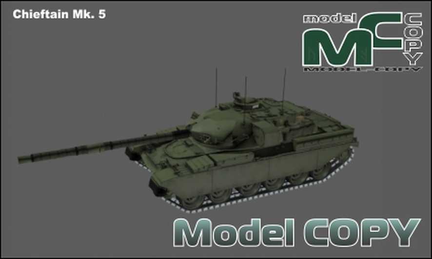 Chieftain Mk. 5 - 3D Model