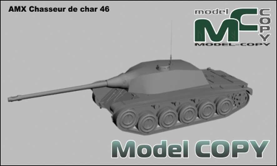 AMX Chasseur de char 46 - 3D Model