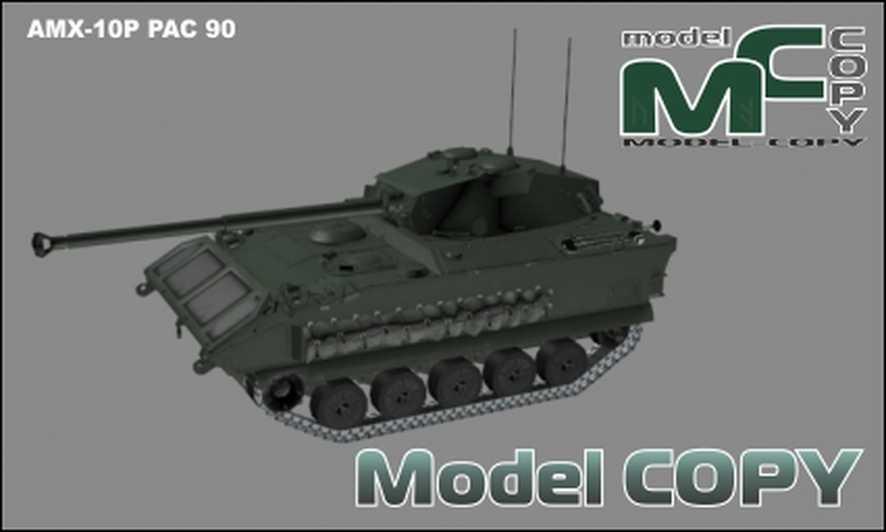 AMX-10P PAC 90 - 3D Model