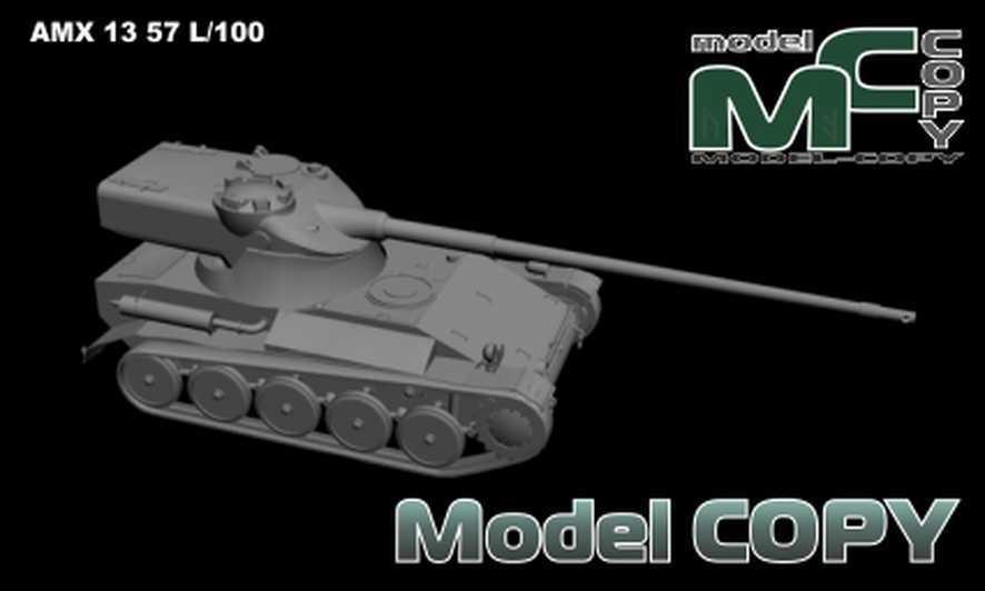 AMX 13 57 L/100 - 3D Model