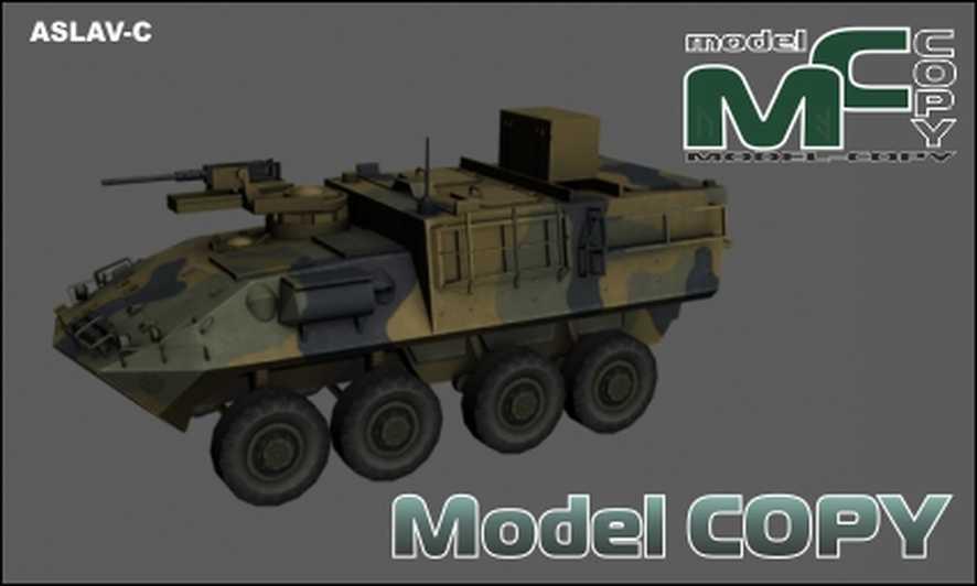 ASLAV-C - 3D Model