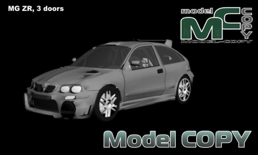 Rover MG ZR, 3 doors - 3D Model