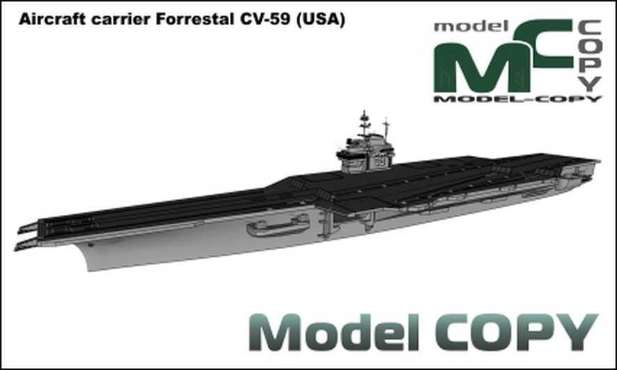 aircraft carrier forrestal cv-59  usa  - 3d model - 39463