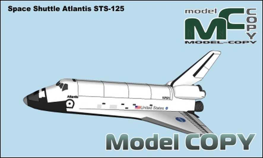 Space shuttle Atlantis STS-125 - 3D Model