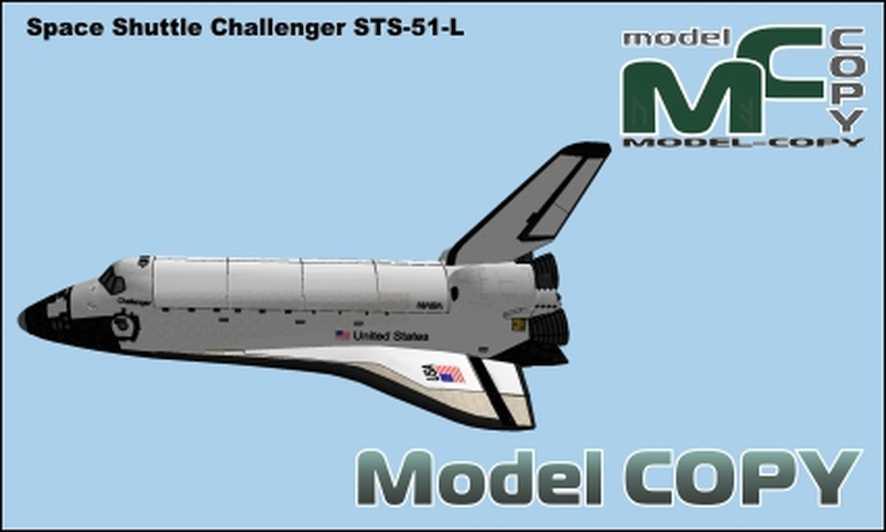 Promu Challenger STS-51-L - Model 3D