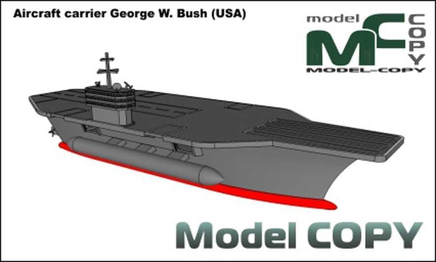Aircraft carrier George W. Bush (USA) - 3D Model