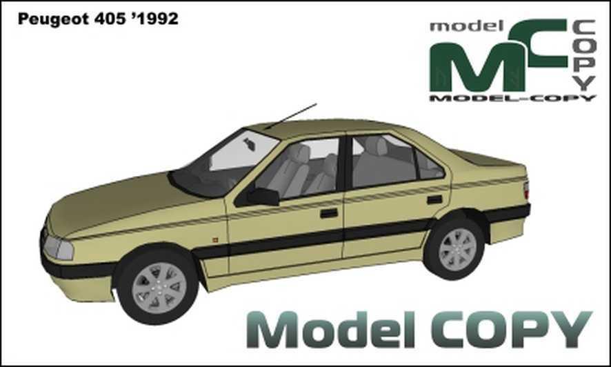 Peugeot 405 (1992) - 3D Model