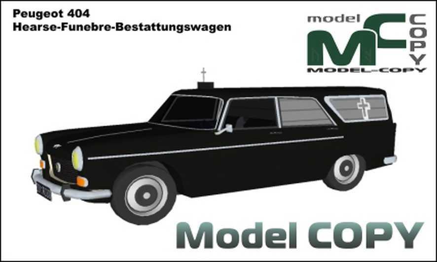 Peugeot 404 Hearse-Funebre-Bestattungswagen - 3D Model