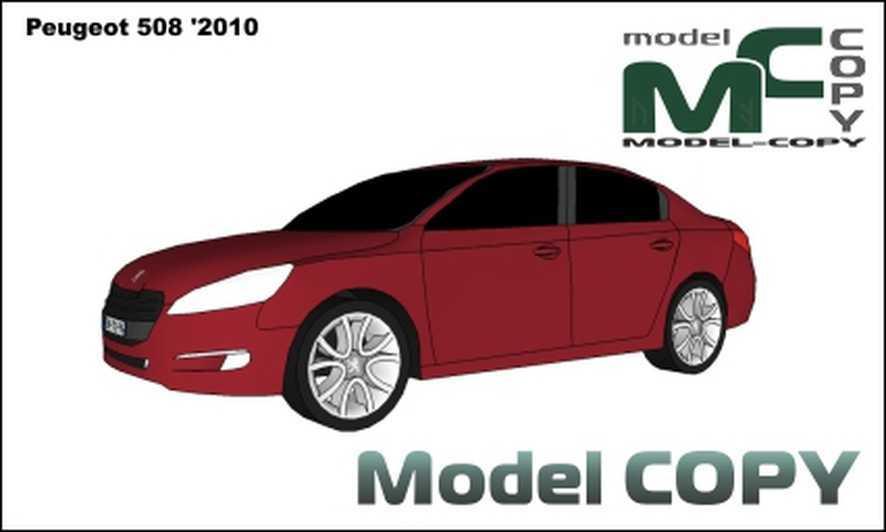 Peugeot 508 '2010 - 3D Model