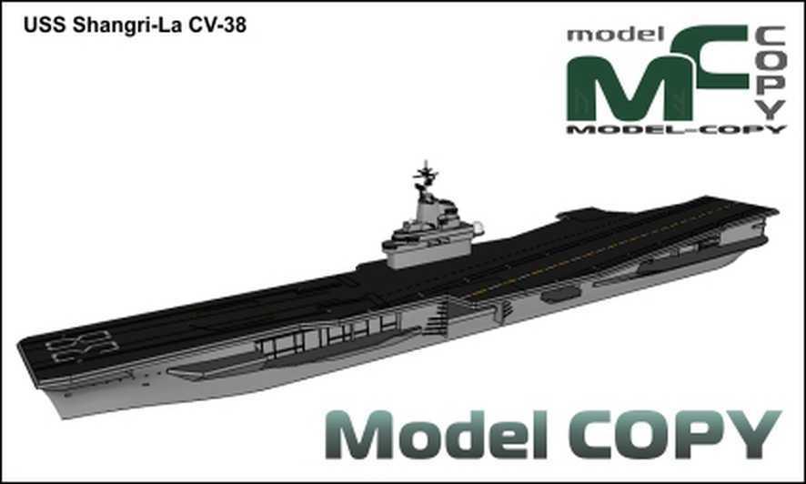 USS Shangri-La CV-38 - 3D Model