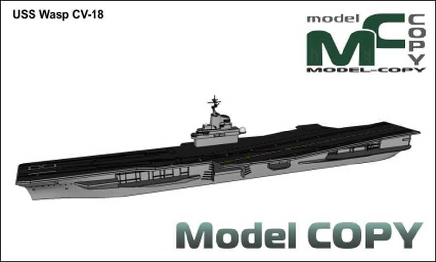 USS Wasp CV-18 - 3D Model