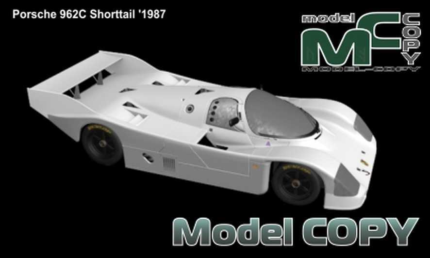 Porsche 962C Shorttail '1987 - 3D Model