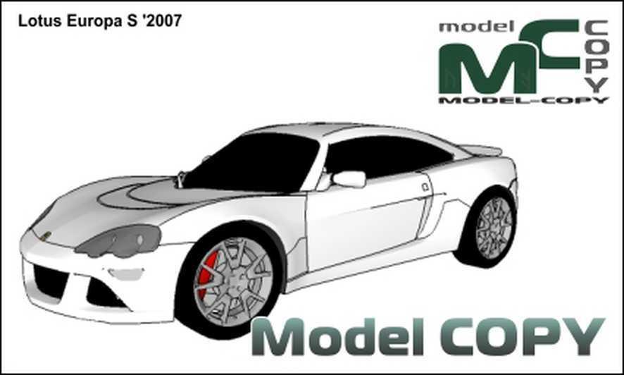 Lotus Europa S '2007 - 3D Model