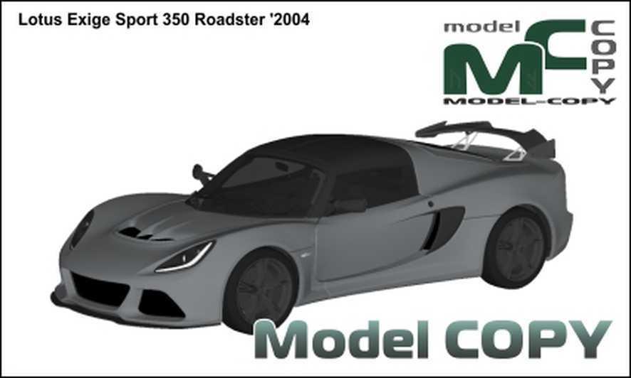 Lotus Exige Sport 350 Roadster '2004 - 3D Model