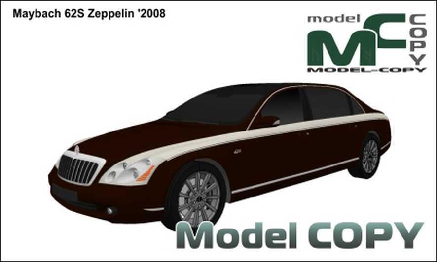 Maybach 62S Zeppelin '2008 - 3D Model