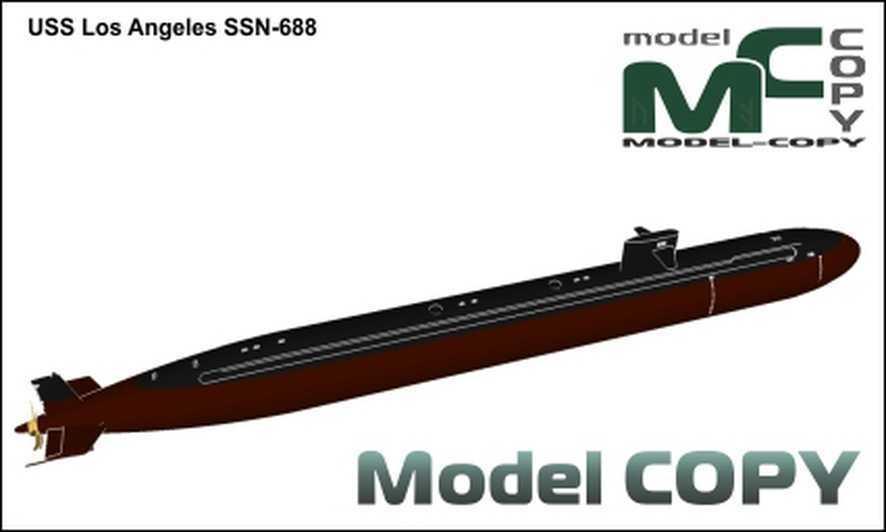 USS Los Angeles SSN-688 - 3D Model