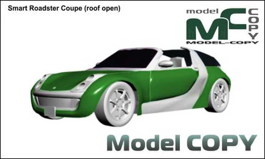 smart roadster coupe dach offen 3d model 14295. Black Bedroom Furniture Sets. Home Design Ideas