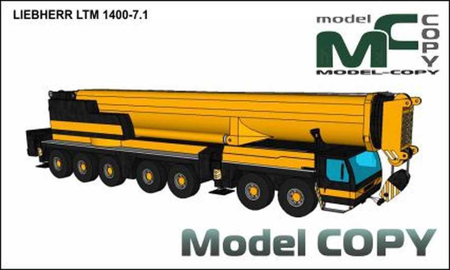 LIEBHERR LTM 1400-7.1 - 3D Model