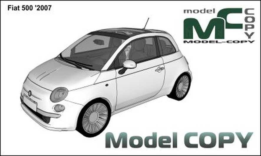 Fiat 500 '2007 - 3D Model