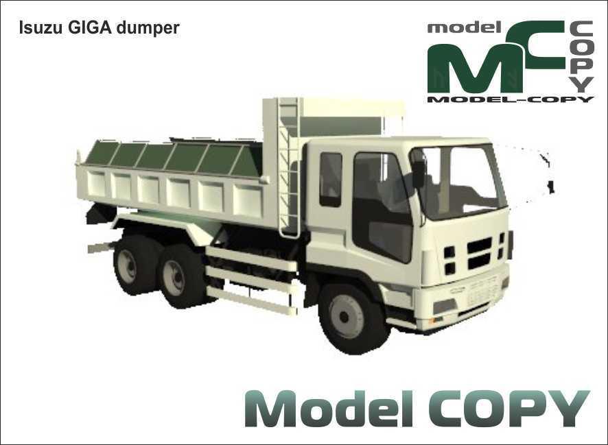 Isuzu GIGA dumper - 3D Model