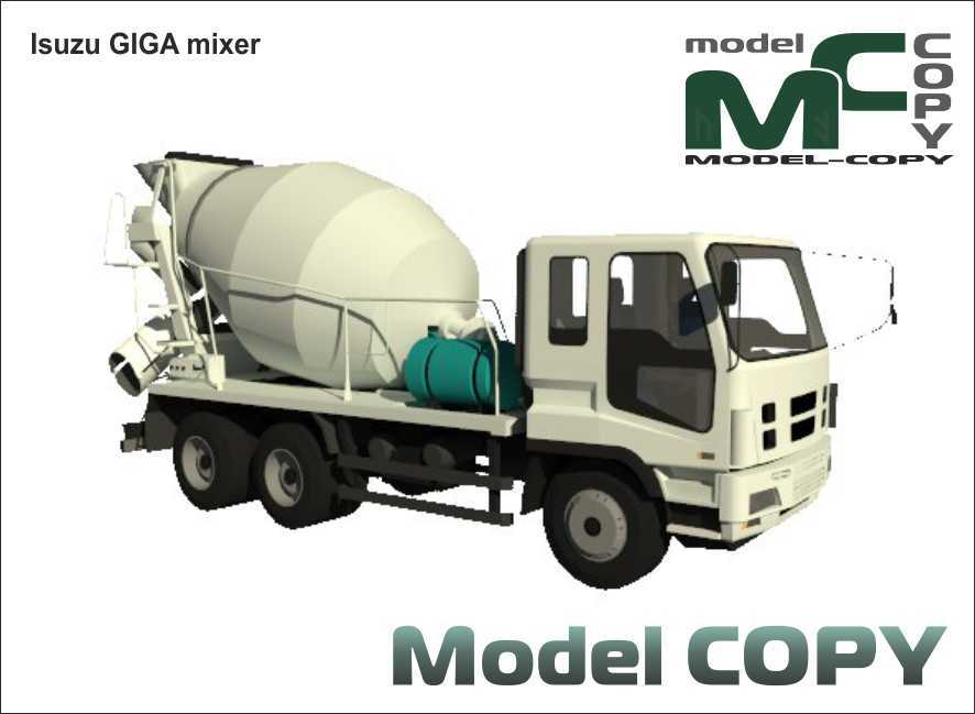 Isuzu GIGA mixer - 3D Model