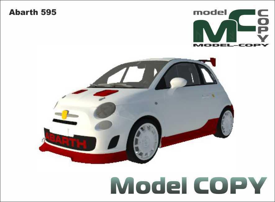 Abarth 595 - 3D Model