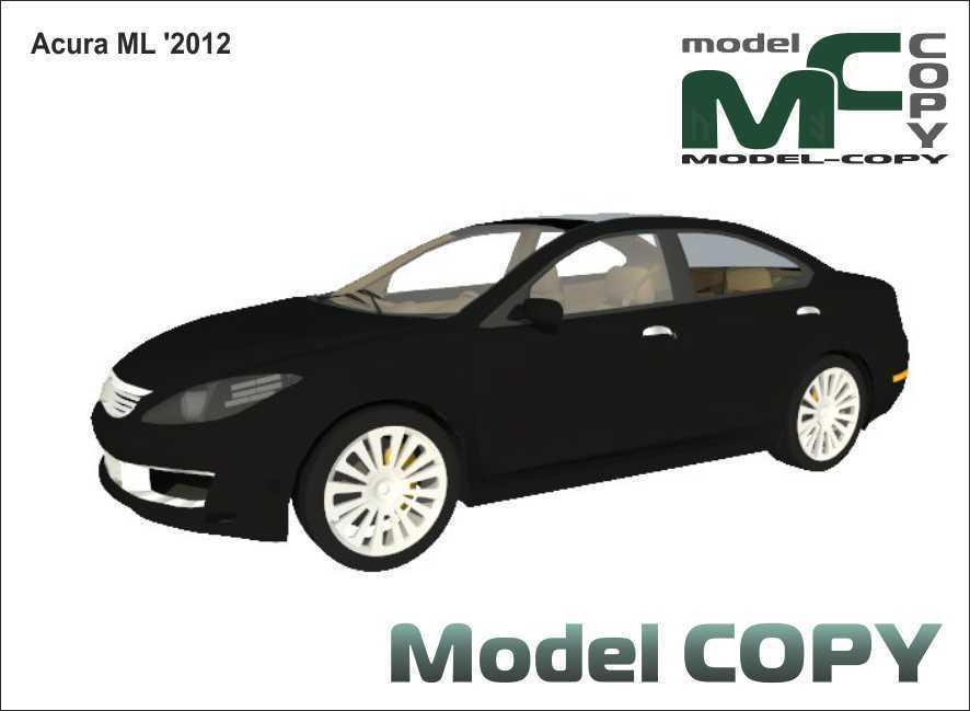 Acura ML '2012 - 3D Model