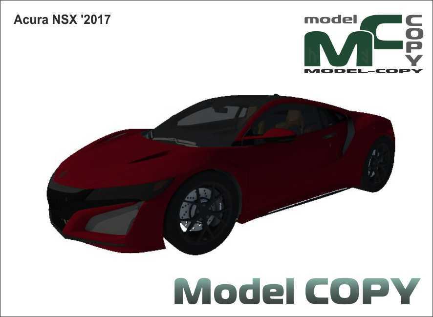 Acura NSX '2017 - 3D Model