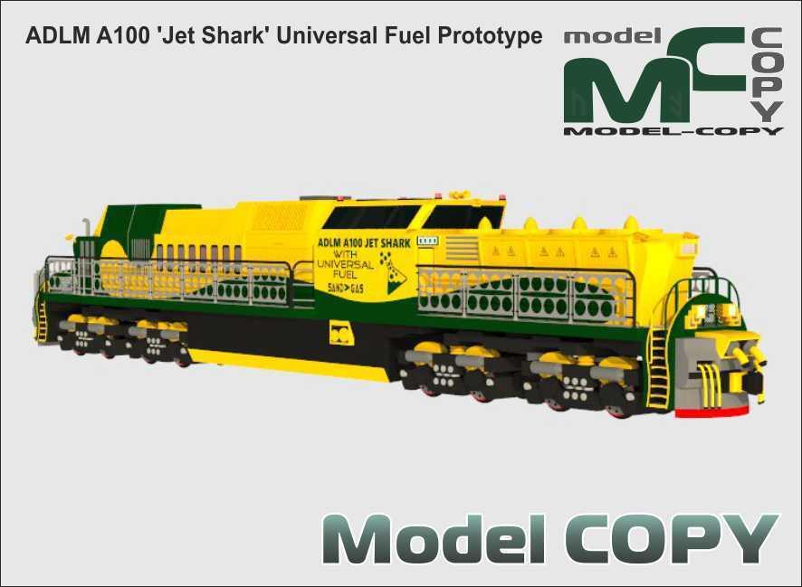 ADLM A100 'Jet Shark' Universal Fuel Prototype - 3D Model