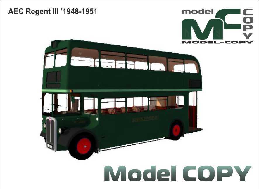 AEC Regent III '1948-1951 - 3D Model