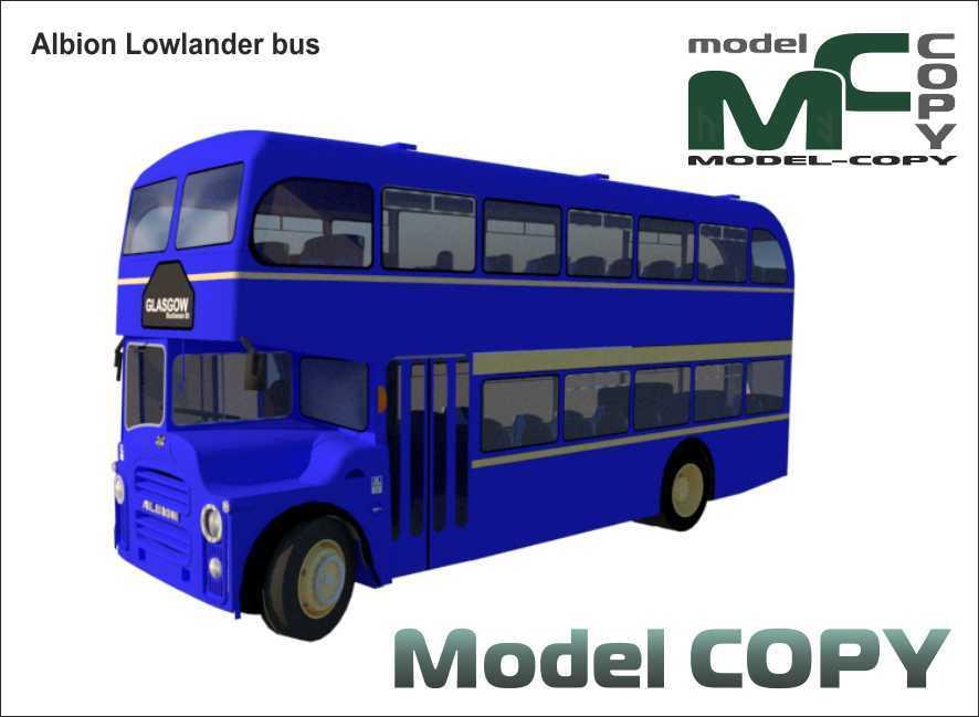 Albion Lowlander bus - 3D Model