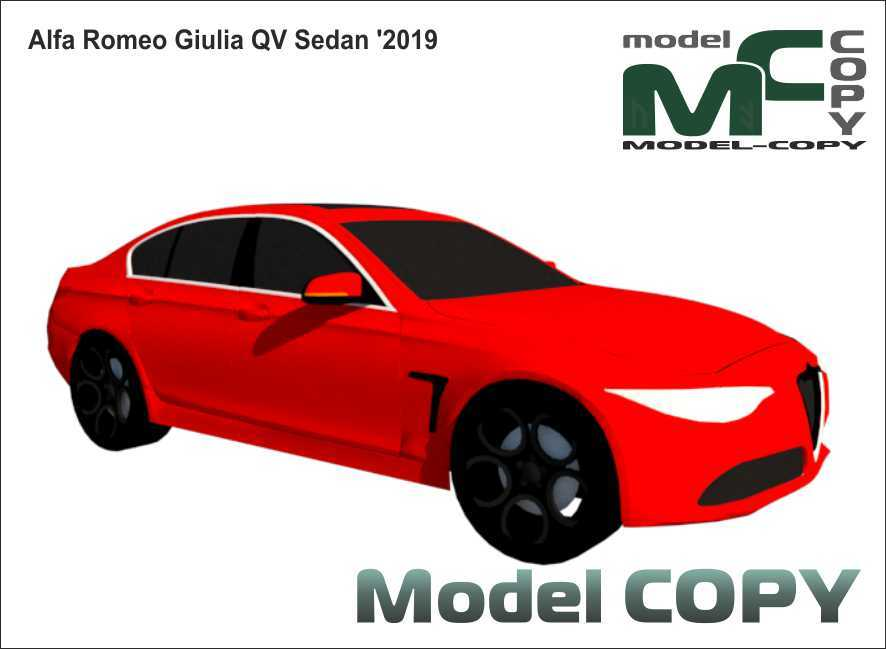 Alfa Romeo Giulia QV Sedan '2019 - 3D Model