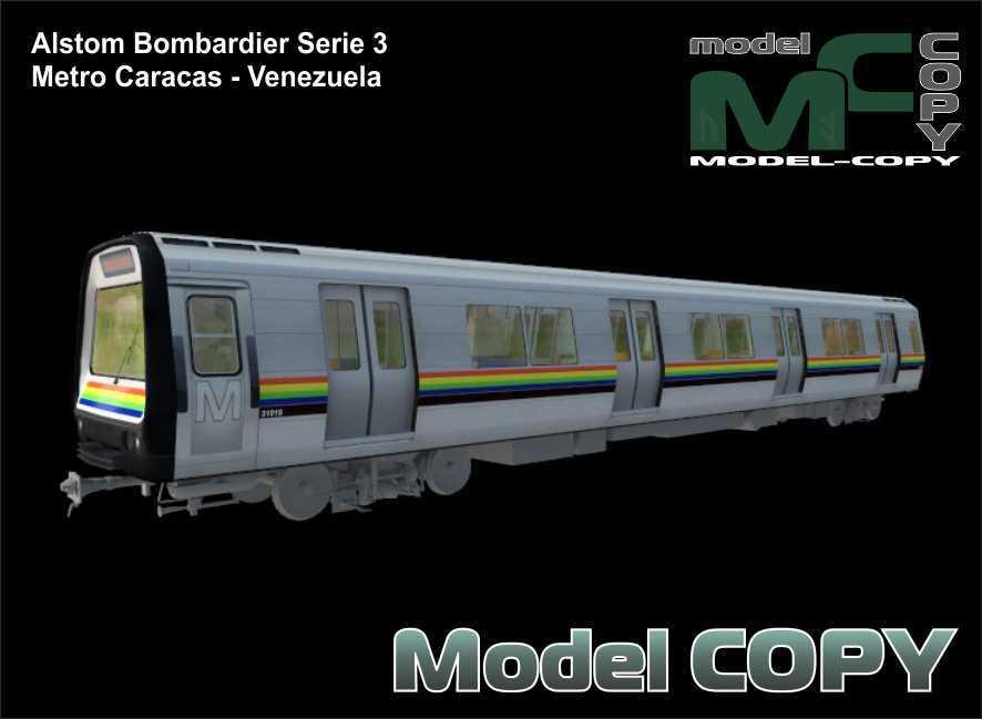 Alstom Bombardier Serie 3 Metro Caracas - Venezuela - 3D Model