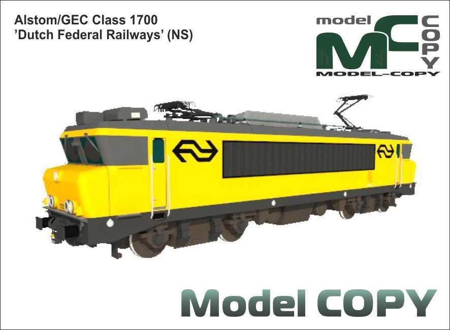 Alstom/GEC Class 1700 'Dutch Federal Railways' (NS) - 3D Model