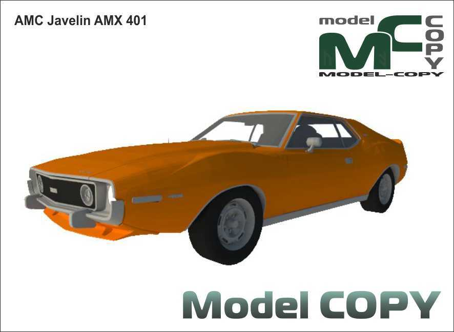 AMC Javelin AMX 401 - 3D Model