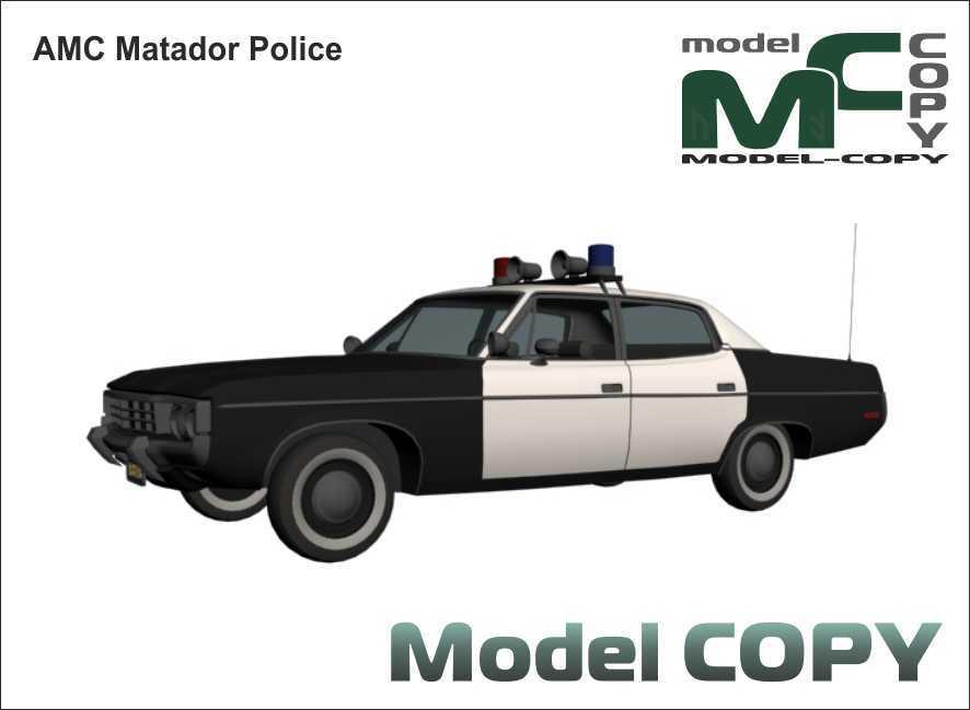 AMC Matador Police - 3D Model