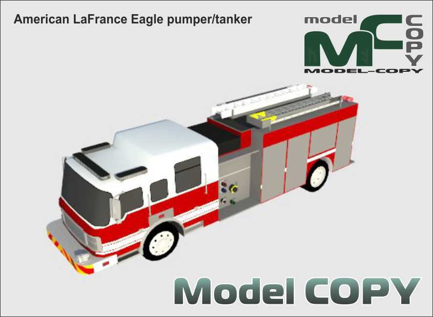American LaFrance Eagle pumper/tanker - 3D Model