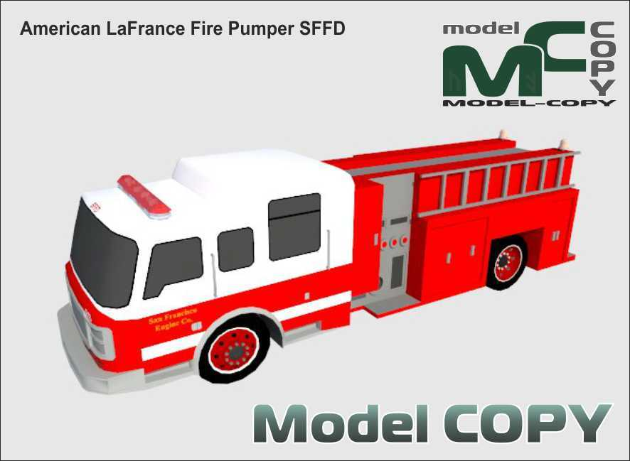 American LaFrance Fire Pumper SFFD - 3D Model