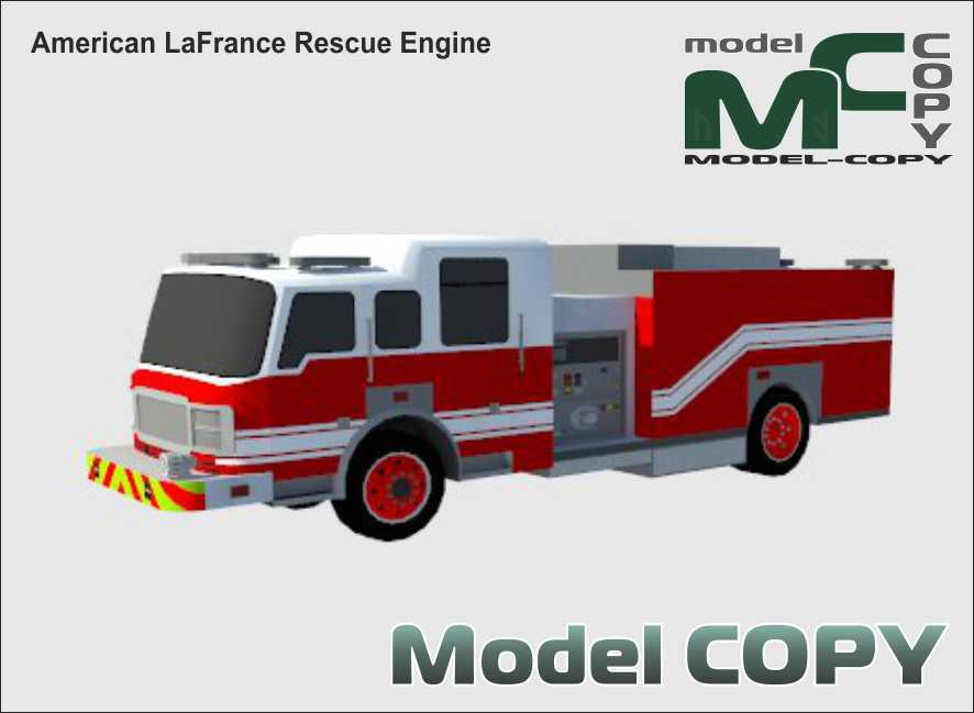 American LaFrance Rescue Engine - 3D Model