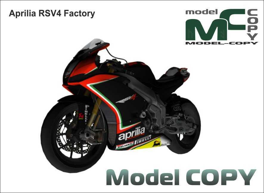 Aprilia Rsv4 Factory 3d Modell 41600 Model Copy