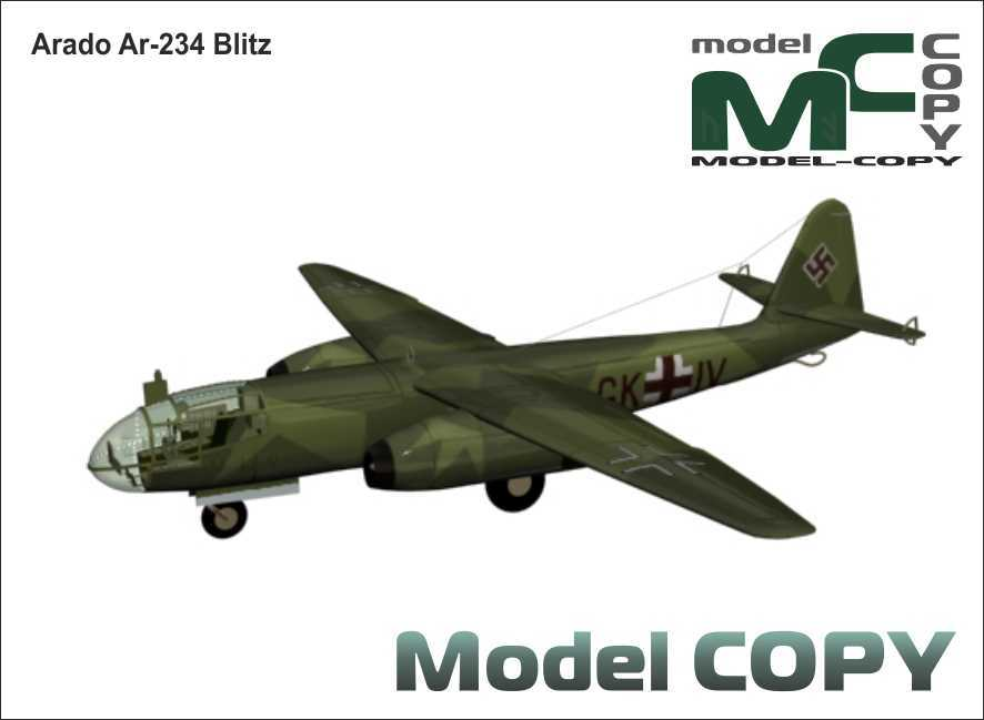 Arado Ar-234 Blitz - 3D Model