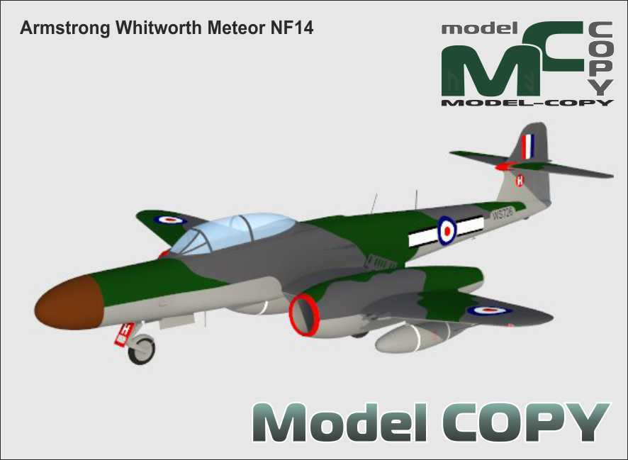 Armstrong Whitworth Meteor NF14 - 3D Model